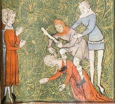 14th century (ca. 1365), French University of Chicago Library MS 1380: Roman de la Rose by Jean de Meun and Guillaume de Lorris fol. 55r http://roseandchess.lib.uchicago.edu/rose.html