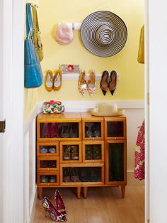 Check out this bedroom that is full of storage and style! By creating zones, repurposing furniture, devising clever closet space, and more, this room becomes neat and orderly. Any girl would love to live in this cute, preppy, and creative space! Even if your bedroom is small, there are plenty of ways to store your things stylishly.