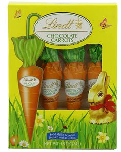 2 Pack of Lindt Chocolate Carrots. Each Box Contains: 4 individually wrapped chocolate carrots. Lindt Milk Chocolate Carrots with a Chocolate Hazlenut Center. Perfect for Easter baskets and Easter gifts. Chocolate Rabbit, Lindt Chocolate, Chocolate Shells, Easter Chocolate, Easter Gift Baskets, Basket Gift, Easter Decor, Easter Crafts, Easter Candy