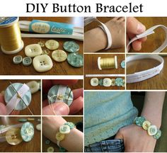 DIY Button Bracelet - http://diyideas4home.com/2014/01/diy-button-bracelet/