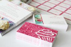 Diy glitter business cards goon glitter pinterest business pink glitter business card design for fifi lolas kitchen design copyright becky reheart Images