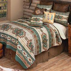 Western Furniture, Furniture Decor, Southwest Bedroom, Western Bedding Sets, Quilt Sets Queen, Black Forest Decor, Leather Pillow, Western Homes, Home Decor Online