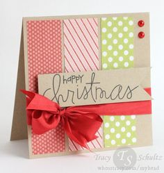 Happy Christmas by Tracy Schultz- paper from My Mind's Eye, stamps from Paper Smooches.
