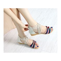 Beautiful Casual Boho Colorful Strap Sandals Shoes for women http://goo.gl/4Lsnpv