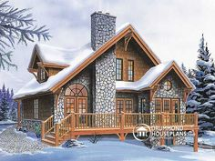 Plan of the Week � �Perfect 4-season chalet!� http://blog.drummondhouseplans.com/2010/02/26/perfect-4-season-chalet/