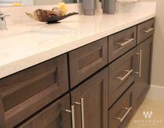 Beautiful Bathroom Cabinets By Woodmont Cabinetry: Sedona Maple, Smoke  Finish