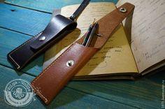 Сумки и аксессуары ручной работы. футляр для ручки. VOLGA - VOLGA изделия из кожи. Ярмарка Мастеров. Писатель, коричневый, кожа натуральная