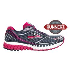 Youll run so incredibly light and smooth that youll be hauntingly hard to catch in the womens Brooks Ghost 6 running shoes