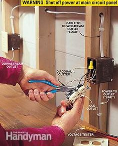 Installing a GFCI receptacle outlet doesn't have to be confusing. Closeup photos show how to install a GFCI outlet and how to install a GFCI replacement plug.