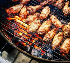 """Grill  Fire  Apple Wood  Buffalo Chicken Wings  Beer  NFL Playoff Football = Man Heaven.  PSA: Are you a BBQ Junkie? Love grilling like you love life? Click """"FOLLOW"""" for a guilt & gluten-free diet of daily food & travel pornography. Share via @regrann or @repost app.  Blog: http://ift.tt/1vCV6pv  #backyardbbqhero #grill #grilling #grillporn #bbq #barbecue #smoke #smoking #chicken #beer #paleo #nfl #football #glutenfree #instagood #foodstagram #foodgasm #food #dad #dallas #greenbay #nomnom…"""