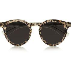 Illesteva Leonard 2 round-frame acetate sunglasses ($285) ❤ liked on Polyvore