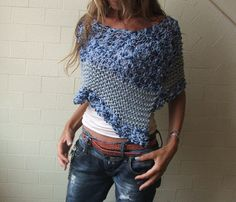 Blue Splash Poncho