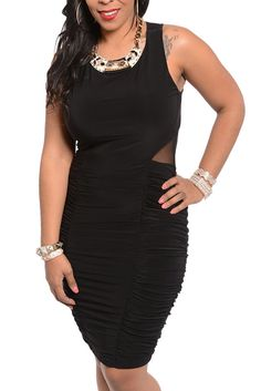 DHStyles Women's Black  Plus Size Sexy Mesh Cut Out Sleeveless Date Dress #sexytops #clubclothes #sexydresses #fashionablesexydress #sexyshirts #sexyclothes #cocktaildresses #clubwear #cheapsexydresses #clubdresses #cheaptops #partytops #partydress #haltertops #cocktaildresses #partydresses #minidress #nightclubclothes #hotfashion #juniorsclothing #cocktaildress #glamclothing #sexytop #womensclothes #clubbingclothes #juniorsclothes #juniorclothes #trendyclothing #minidresses #sexyclothing…