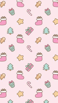 Android Pusheen Free Christmas Wallpaper #IphoneWallpapers