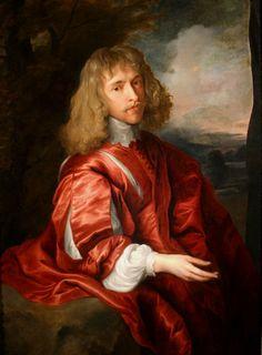 Portrait of Robert Dormer, Earl of Carnarvon, Studio of Sir Anthony van Dyck Anthony Van Dyck, Sir Anthony, Roi Charles, King Charles, Anton Van, 17th Century Clothing, Civil War Books, Baroque Painting, Rembrandt
