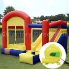 Super Slide Castle Inflatable Mighty Bounce House Moonwalk Jump Castle w/Blower