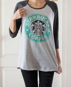 Starbucks me and my friend Sophie cannot wait for this to come in the mail can't wait to wear it!!!