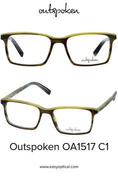OUTSPOKEN OA1517 C1 Eyewear, Easy, Men, Style, Swag, Eyeglasses, Guys, Sunglasses, Outfits