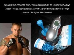 Start fighting aging now with the two biggest contenders in the non-invasive at-home tool market exclusively from Rodan + Fields Dermatologists; The Redefine Macro Exfoliator and the Redefine AMP MD Roller.  Sweep away 5 million dead skin cells in 5 minutes once a week with the Macro-E for brighter more even skin and roll away those wrinkles with the AMP MD which increases the effectiveness of our Retinol & Peptide Night Renewing Serum by up to 500%!