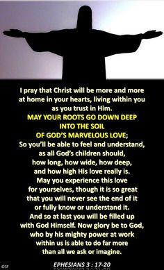 https://flic.kr/p/AJCLij   Ephesians 3, 17-20   Ebenezer Halleluiah creationPicture: public domain