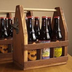 Beginner Woodworking Projects - Bottle Carriers