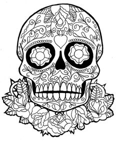the adult coloring boom has spawned complex and detailed abstract coloring pages for adults adult coloring has such therapeutic value - Simple Sugar Skull Coloring Pages