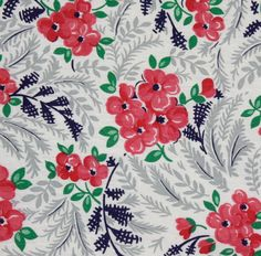 Vintage 50s fabric.  Lovely...