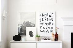 Via AprillAprill | Alphabet Print | Hay Hand | Fine Little Day Up Poster | White Nordic Scandinavian