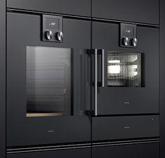 Gaggenau 200 Series built-in appliances Stove Heater, Pellet Stove, Oven Design, Kitchen Design, Vintage Stoves, Kitchen Equipment, Luxury Kitchens, Bosch, Ovens