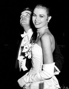 Grace Kelly und Fürst Ranier, Januar 1956