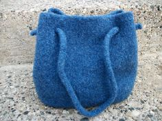 Felted Wool Drawstring Purse/Bag - pinned by pin4etsy.com
