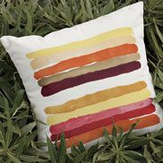 West Elm Striped pillow