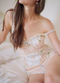 'Laboheme' Heirloom by Claire Pettibone l Limited Edition of Fine #Lingerie  http://news.globalintimatewear.com/GalleriesVideos/10878/1/Danish_Supermodel_Nina_Agdal_Features_Calvin_Klein.html