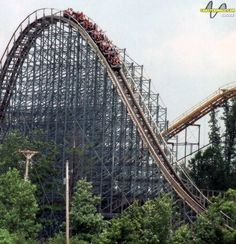 Villain at Geauga Lake & Wildwater Kingdom in Aurora, Ohio, USA Geauga Lake Amusement Park, Amusement Parks, Roller Coaster Ride, Roller Coasters, Abandoned Buildings, Abandoned Places, Abandoned Theme Parks, Riders On The Storm, Cleveland Rocks
