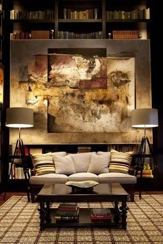 love the Huge Artwork on back wall - ties everything together
