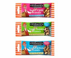 Packaging for Mr Filbert's - snack retailer in Dorset