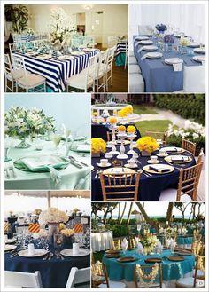 decoration mariage mer couleurs deco table