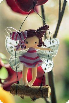 Fairy Figurine on a Swing. $26.00, via Etsy.