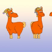 Ok, so they are llamas but they are cute lamas on fabric.   And would make some great fussy cut blocks.