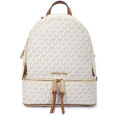 17322570f8ae31 US $199.99-Michael Kors Rhea Medium Logo Print Backpack - Vanilla  30S7GEZB1B-150