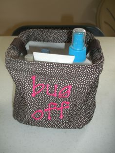 "Keep Everything that you need to keep the ""bug off"" with our Thirty-one Little Carry! Love to carry it when outside!"