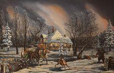 """""""Pejzaż zimowy"""" """"Winter landscape"""" 1996"""