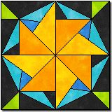 Lucky star #2.  This can be paper pieced as well as pieced...lots more patterns on this site too