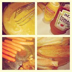 Hot Dog sauce Cheddar, la recette !