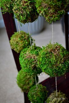 Moss Ball Garland for Spring by Thread Owl on Etsy, $16.00