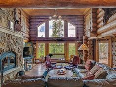Cozy fireplace and mountain views create the log cabin ambiance that will set the mood for a perfect family vacation and many special memori...