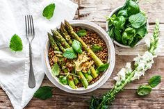 Alblinsen-Spargel-Salat · Eat this! Vegan Asparagus Recipes, Vegan Recipes, Vegan Food, Healthy Food, Eat This, Spring Recipes, Soup And Salad, Main Meals, Green Beans