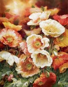 Poppies Art Floral, Watercolor Poppies, Landscape Paintings, Floral Paintings, Flower Decorations, Flower Art, Beautiful Flowers, Illustration Art, Illustrations