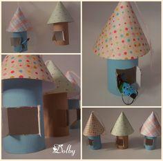 Papierowe budki dla ptaszków / Paper Bird House DIY