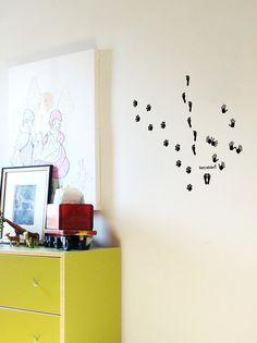 wallsticker footprints Wallpaper interior Design